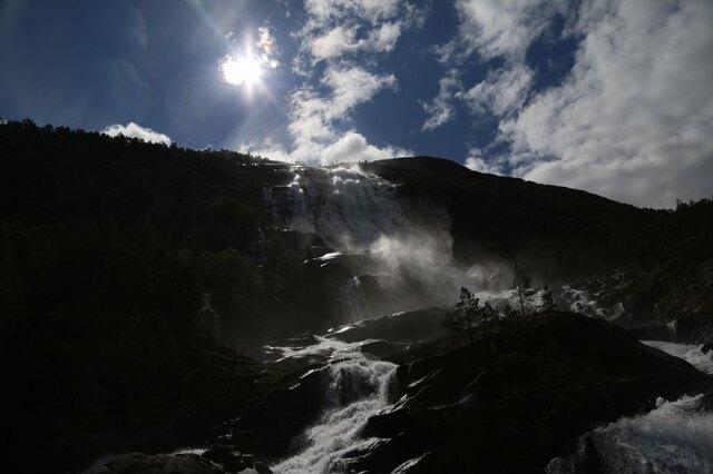 Wodospad Langfossen